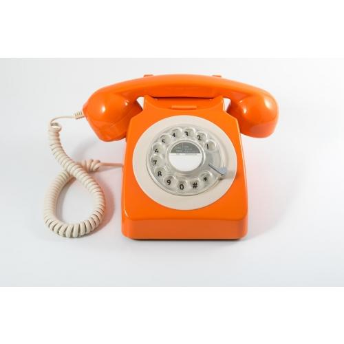 GPO 746 Rotary Dial Telephone - Orange