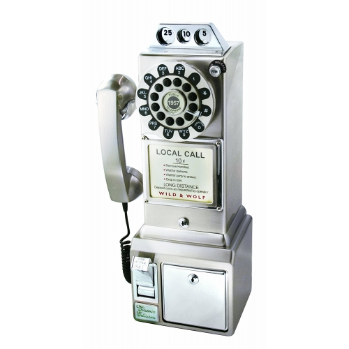 1950's American Diner Phone - Chrome