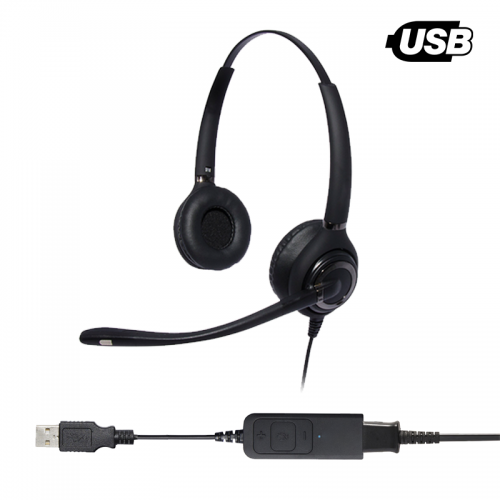 Tocaro Advanced Binaural Noise Cancelling USB Headset