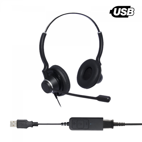 ThreadKM Ultra Noise Cancelling Binaural USB Headset