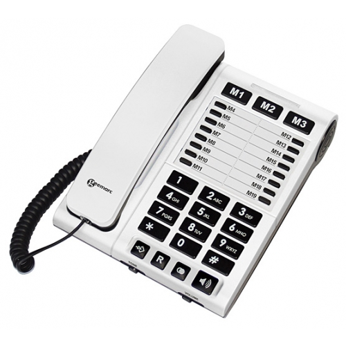 Geemarc ClearSound 1200 White Executive Amplified Telephone