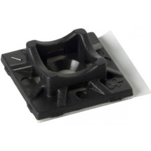 Cable Tie 2 Way Adhesive Base (Pack of 100) - Black