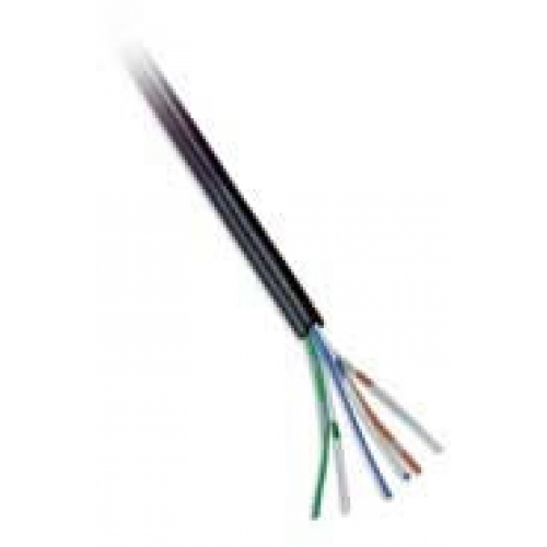 CW1308 3 Pair Black Telephone Cable Per 200m Roll