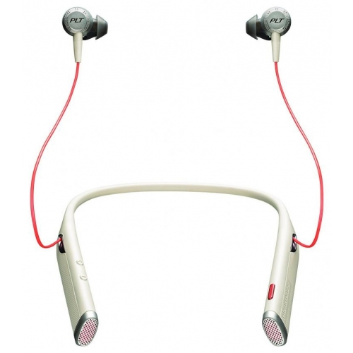 Plantronics Voyager 6200 UC Bluetooth Neckband Headset With Earbuds - Sand - New