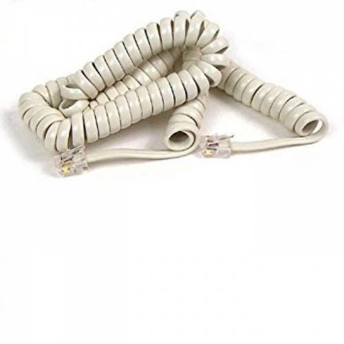Handset Curly Cord 6ft Ivory