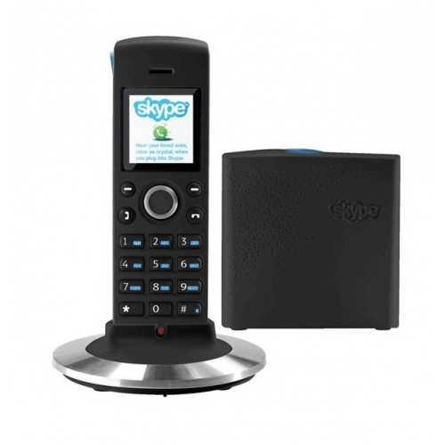 RTX Dualphone 4088 Combined Land Line & Skype DECT Cordless Phone - Black