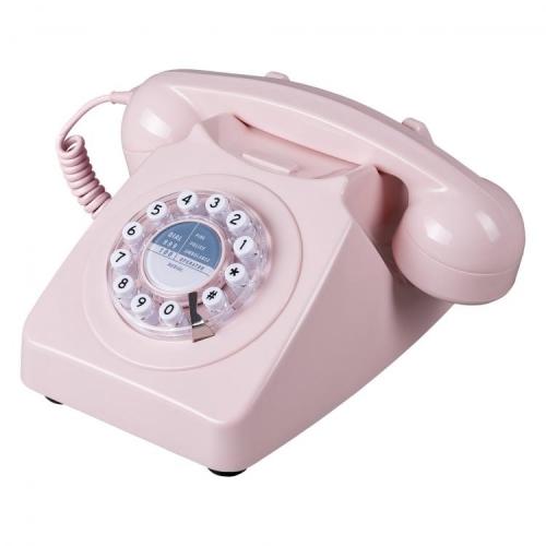 Wild & Wolf 746 Retro 1960's Telephone - Dusky Pink