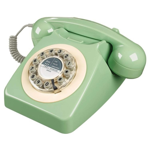 Wild & Wolf 746 Retro 1960's Telephone - Swedish Green