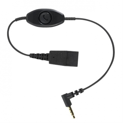 Jabra Quick Disconnect (QD) to 3.5mm Jack Cord With Answer/End/Mute - New