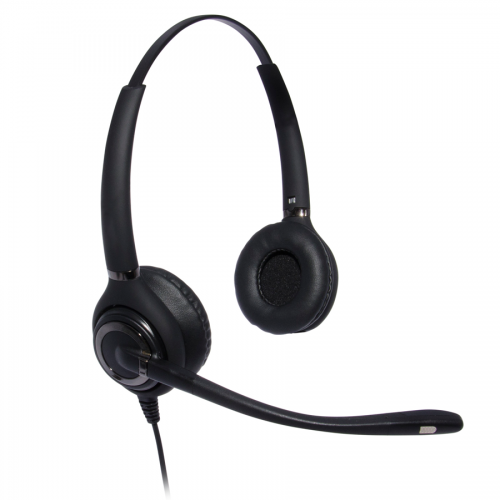 Advanced Binaural Noise Cancelling Headset Compatible With Grandstream GXP1400