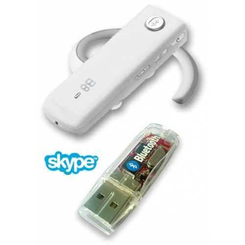 BlueNext B8 Bluetooth Headset - White