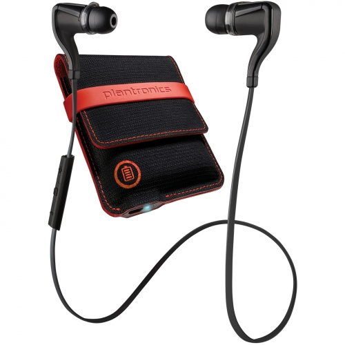 Plantronics Backbeat Go 2 Black Bluetooth Headphones With Case