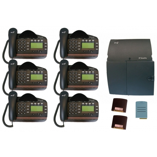 BT Versatility 4 line Analogue Telephone System With 6 x V8 Handsets