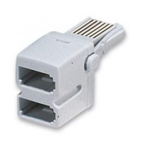 BT Double Adaptor White (4 Way)