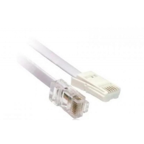 BT Plug to RJ-45 Male To Male - 3 Metres - Beige - New