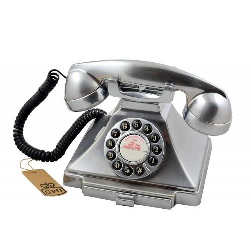 Classical GPO 1929S Carrington Push Button Telephone - Chrome