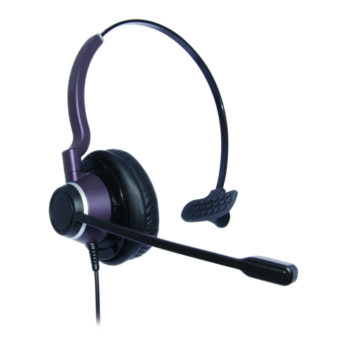 Monaural Ultra Noise Cancelling Contact Centre Headset Compatible With Vtech Eris Terminal VCS752