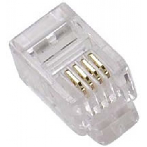 RJ11 Crimp Style Line Plug (Pack of 10) - 6 Position 6 Contact