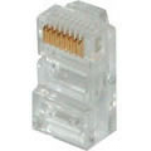 RJ22 Crimp Style Handset Cord Plug (Pack of 10) -  4 Position 4 Contact