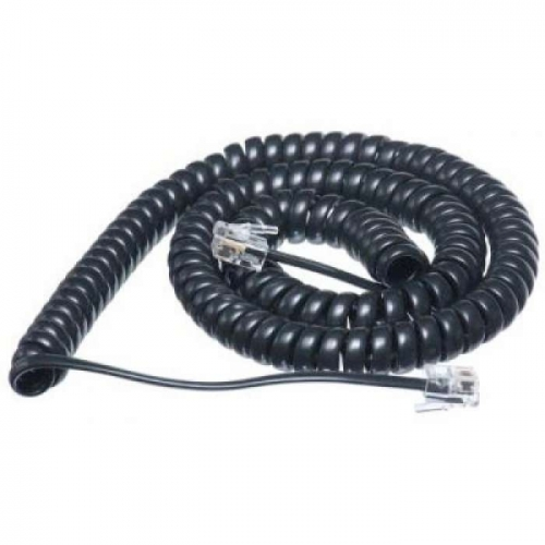 Handset Curly Cord 12ft Black