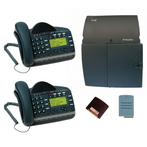 BT Versatility 2 line Analogue Telephone System With 2 x V16 Handsets