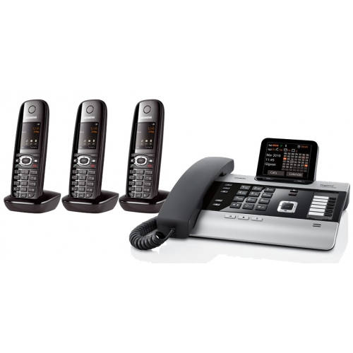 Gigaset DX800A All In One Telephone and Three C610H Additional Handsets