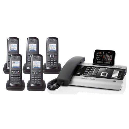 Gigaset DX800A All In One Telephone and Quint E49H Additional Handsets