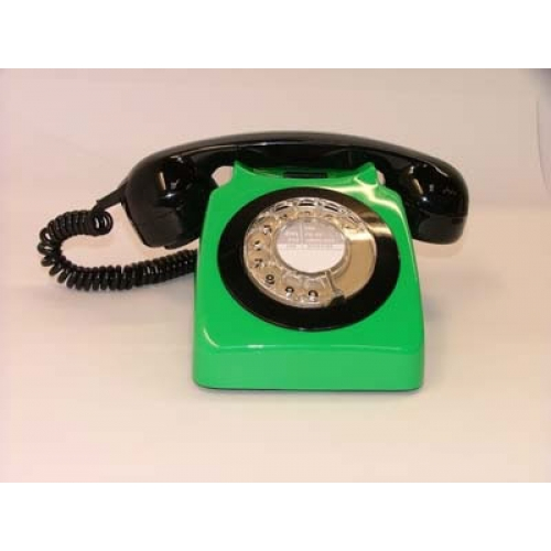 Original GPO 746 Rotary Dial 1970's Telephone - Emerald Green & Black