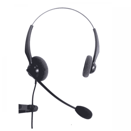 Entry Level Binaural Noise Cancelling Headset Compatible With Grandstream GXP2000