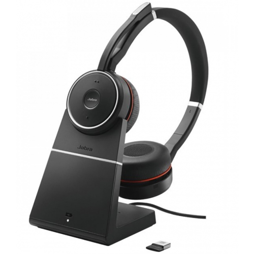 Jabra Evolve 75 Stereo Headset (With Charging Stand) UC/MS)