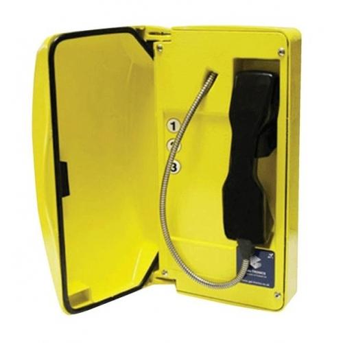 GAI-Tronics Titan SIP Yellow Help Point Box - 3 Button