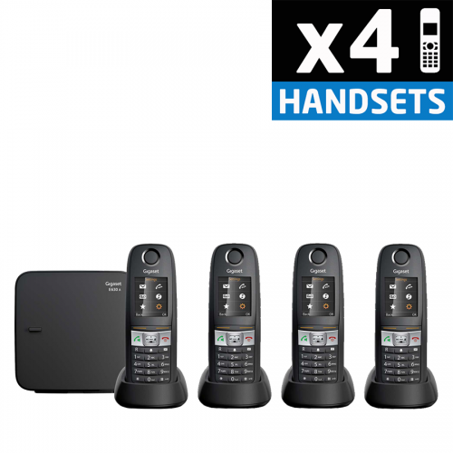 Gigaset E630A Robust DECT Cordless Phone With Answering Machine - Quad