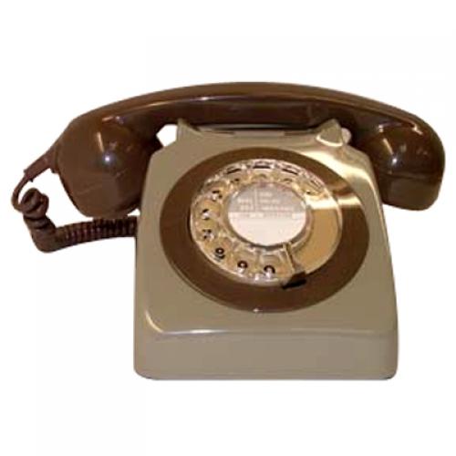 Original GPO 746 Rotary Dial 1970's Telephone - Classic Two Tone Grey
