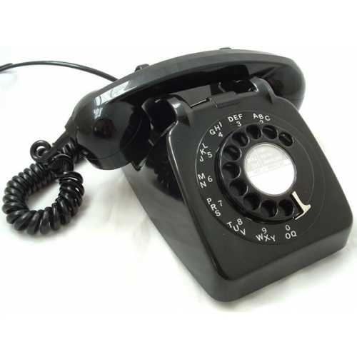 Original GPO 746 Rotary Dial 1970's Telephone - Traditional Black