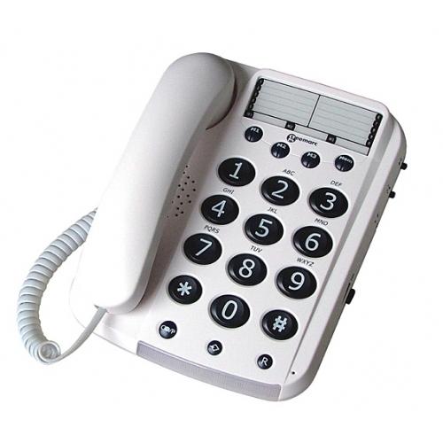 Geemarc Dallas 10 Big Button Telephone - White
