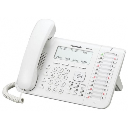 Panasonic KX-DT546 Digital 24 Key 6 Line Handset - White