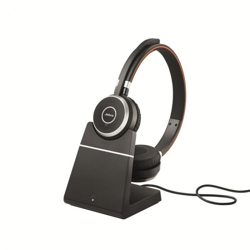 Jabra Evolve 65 Stereo USB Bluetooth Headset with Charging Stand - UC/MS - New