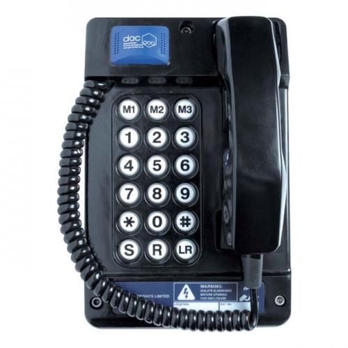 Gai-Tronics Auteldac 4 Atex 18 Button Telephone (Curly Cord)
