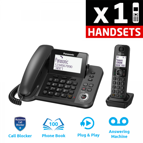 Panasonic KX-TGF320E Corded & Cordless DECT Phone with Answering Machine