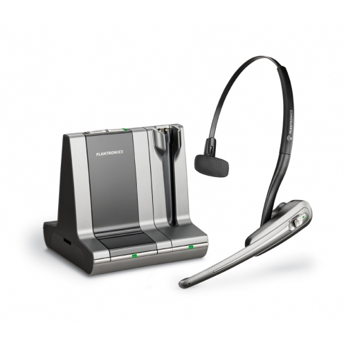 Plantronics Savi Office WO100 Convertible Cordless Headset for PC and Desk Phone - A Grade