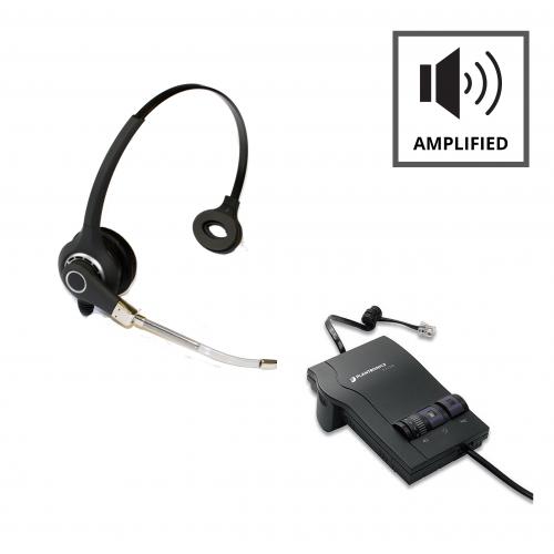 Plantronics M12 Vista Amplifier - A - Grade + Project 101 Monaural Voice Tube Headset