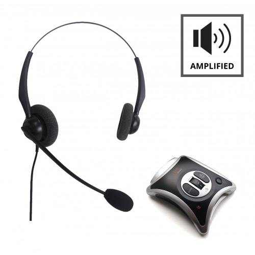 JPL JRC11 Telephone Amplifier + JPL 100 Binaural Noise Cancelling Office Headset