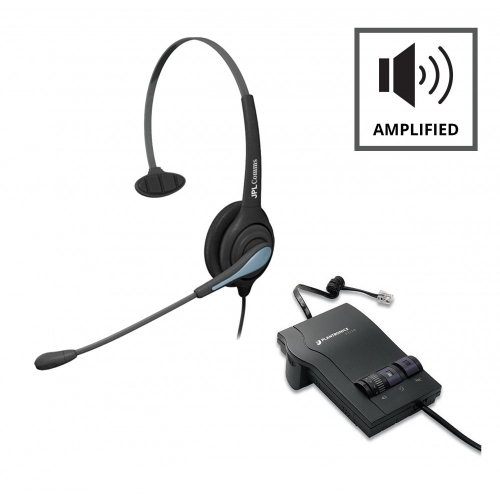 Plantronics M12 Vista Amplifier - A - Grade + JPL 501 Monaural Noise Cancelling Office Headset