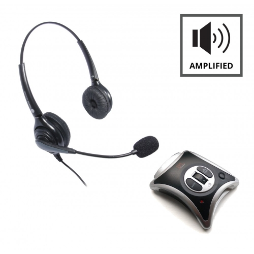 JPL JRC11 Telephone Amplifier + JPL 502 Binaural Noise Cancelling Headset