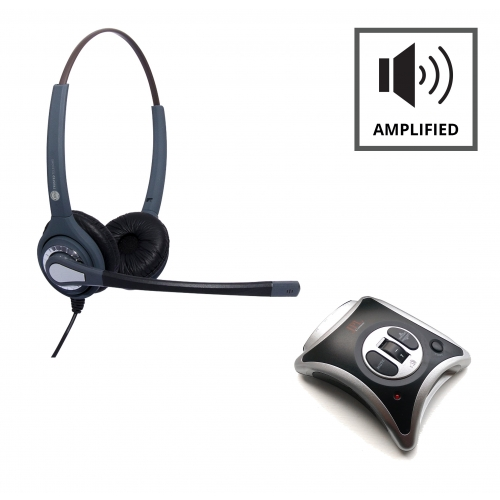 JPL JRC11 Telephone Amplifier + JPL 402 Binaural Noise Cancelling Headset