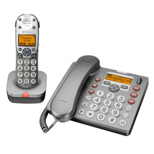 Amplicomms Powertel 880 Amplified Desk Phone & DECT Combo With Answering Machine