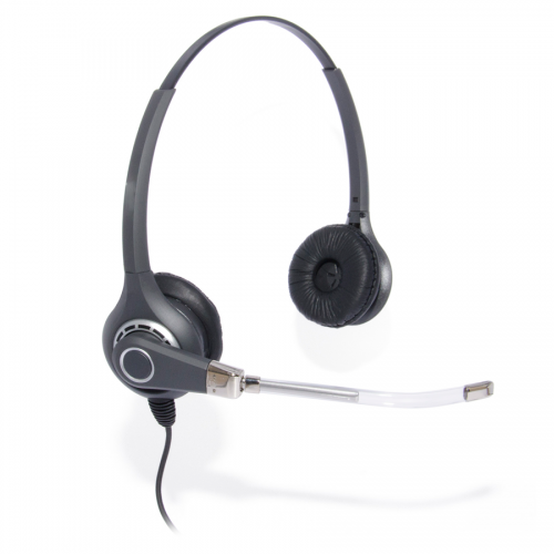 Professional Binaural Headset Compatible With Grandstream GXP1200