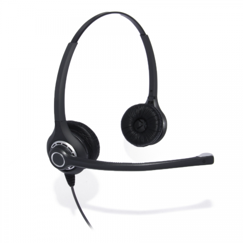 Professional Binaural Noise Cancelling Headset Compatible With Grandstream GXP1760