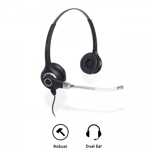 Project 201 Binaural Voice Tube Office Headset