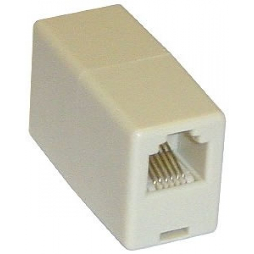 RJ11 Coupler Pin 1 To Pin 1 (4 Way)